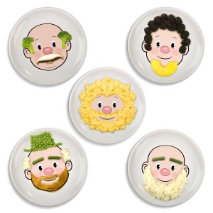 male food face plate